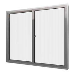 Janela Alumínio 120x100 2 Folhas Com Grade Vidro Canelado MCJCNTC015 - Ref. EMC003016 - QUALITY