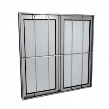 Janela Alumínio 100x100 2 Folhas Com Grade Vidro Liso MCJCNTL013 - Ref. EMC003019 - QUALITY