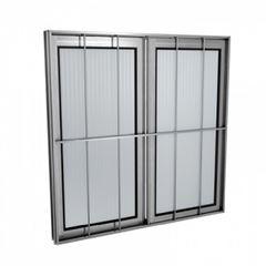 Janela de Alumínio com Grade 2 Folhas Vidro Liso 120x100cm MCJCNTL015 - Ref. EMC004013 - QUALITY