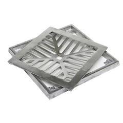 Grelha em Alumínio com Porta Grelha Quadrado 20x20cm Polido - Ref. CJ2020P - LG MAIS