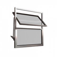 Basculante Alumínio 40x60 2 Folhas Vidro Canelado MCJBNTC005 - Ref. EMC010006 - QUALITY