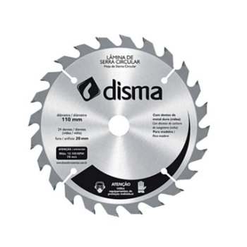 Disco Serra 24D 110mmx20 - Ref. 4660110224 - DISMA