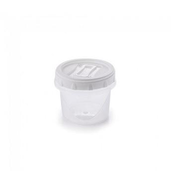 Pote Plástico 300ml Clic Redondo com Tampa de Rosca - Ref.002616 - PLASUTIL