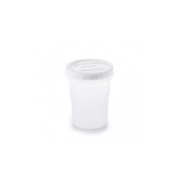 Pote Plástico 1 Litro Clic Redondo com Tampa de Rosca - Ref.002614 - PLASUTIL