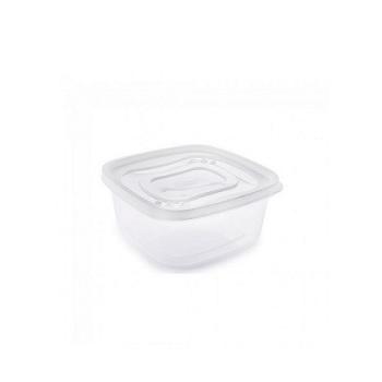 Pote Plástico Quadrado 580ml Clic com Tampa - Ref.002188 - PLASUTIL