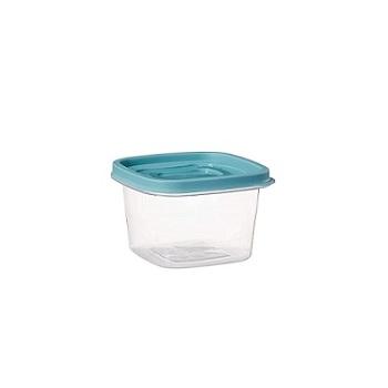 Pote Plástico Quadrado 500ml Clic com Tampa - Ref.002766 - PLASUTIL