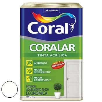 Tinta Acrílica Fosca Coralar Branco 18 Litros - Ref. 5206990 - CORAL