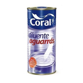 Coral Aguarrás Incolor 900ml - Ref. 5203222 - CORAL