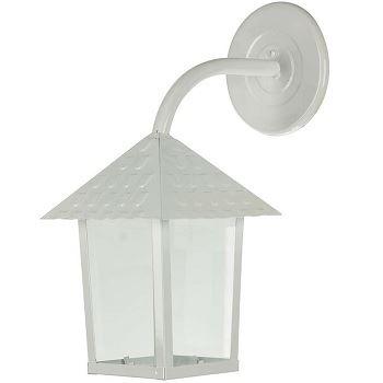 Arandela em Aço 60w Quadrada com Vidro Liso Colonial Branca - Ref.109300-04 - BLUMENAU