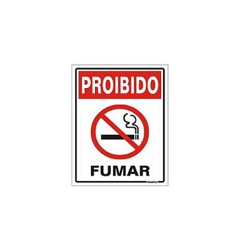 PLACA POLIEST 15X20CM PROIBIDO FUMAR SIN
