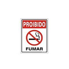 Placa De Poliestireno 15x20cm Proibido Fumar - Ref. 220AH - SINALIZE