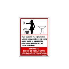 Placa De Poliestireno 15x20cm Procedimento Feminino - Ref. 220AG - SINALIZE