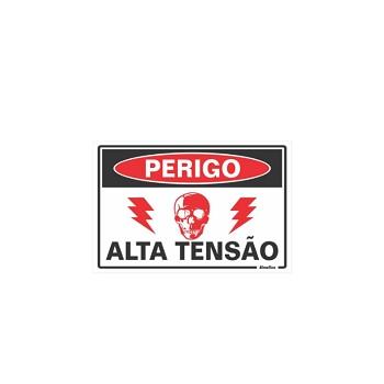 PLACA PVC 20X30CM ALTA TENSAO SINALIZE