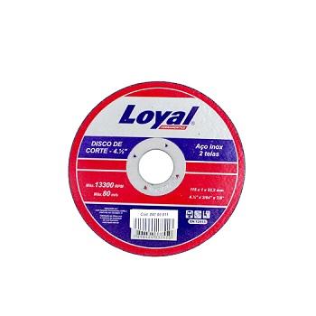 Disco Corte 41/2 Inox - Ref. 04106011 - LOYAL
