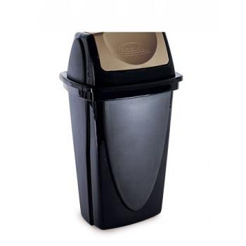 Lixeira Basculante de Plástico 9 Litros com Tampa Ecoblak - Ref.003485 - PLASUTIL
