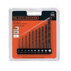 Kit para Broca em Aço com 9 peças para Metal e Concreto - Ref. 15557EP - BLACK & DECKER
