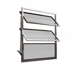 Basculante Alumínio 60x60 3 Folhas Vidro Canelado MCJBNTC006 - Ref. EMC001004 - QUALITY