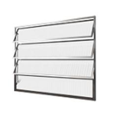 Basculante Alumínio 40x80 3 Folhas Vidro Canelado MCJBNTC011 - Ref. EMC001010 - QUALITY