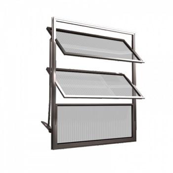 Basculante Alumínio 60x60 3 Folhas Vidro Liso MCJBNTL006 - Ref. EMC002006 - QUALITY