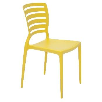 Cadeira em Polipropileno Sofia com Encosto Vazado Amarela - Ref.92237/000 - TRAMONTINA