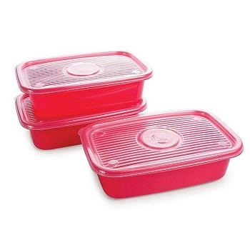 Kit Pote Plástico 3 Peças Pop Retangular - Ref.005960 - PLASUTIL