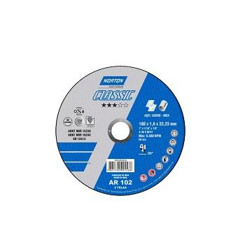 Disco de Corte 4.1/2 Polegadas Inox 2 Telas Classic - Ref.66252543967 - NORTON
