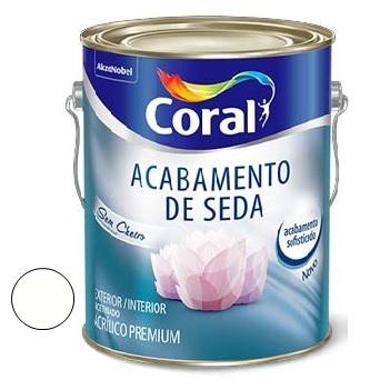 Tinta Acrílica Acabamento de Seda Acetinado Branco 3,6 Litros - Ref. 5229659 - CORAL