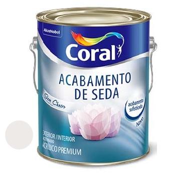 Tinta Acrílica 3,6 Litros Acabamento de Seda Acetinado Branco Gelo - Ref.5229667 - CORAL