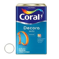 Tinta Acrílica Acabamento de Seda Acetinado Branco 18 Litros - Ref. 5229669 - CORAL