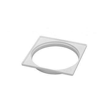 Porta Grelha PVC 100MM Quadrada N58 Branca - Ref. 0944 - KRONA
