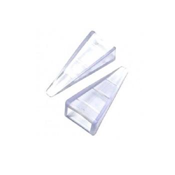 Calço PVC Cartela com 2 peças para Porta e Janela Cristal - Ref. 4190 - ENGEDOM