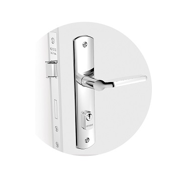 Fechadura Externa Alumínio Espelho Yes Cromado - Ref.03001.0715.17 - SOPRANO