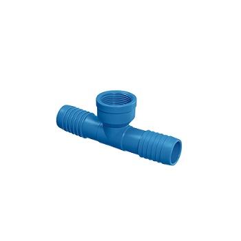 Tê Irrigação PVC 1/2 Interno Azul - Ref.09.022 - UNIFORTTE