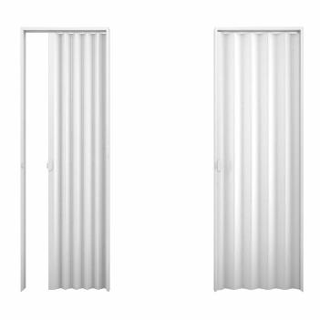 Porta Sanfonada PVC 0,84x2,10m Cinza Claro - Ref.75000 - DUDA