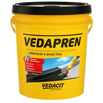 Impermeabilizante Acrilíco 18,4kg Vedapren Preto -  Ref.111805 - VEDACIT