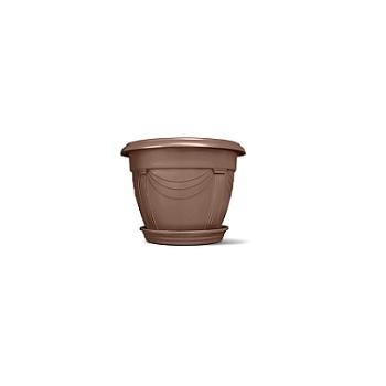 Vaso Plástico 14x19cm Número 0 Redondo Romano Tabaco - Ref.6100302-21 - NUTRIPLAN