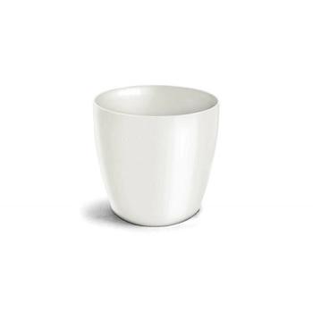 Cachepô Plástico 12x10cm Elegance Branco - Ref.6101702-02 - NUTRIPLAN