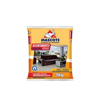 Rejunte Flexível Tipo II Saco Com 5kg Preto - Ref.651 - MASCOTE