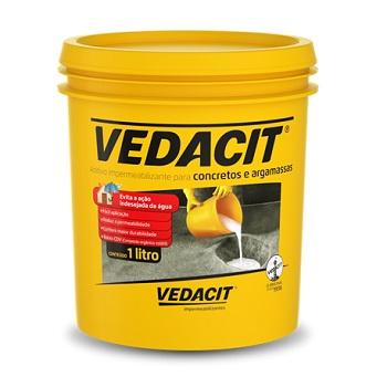 Impermeabilizante 1,0 Litros Concreto Argamassa 1,05kg - Ref.121740 - VEDACIT