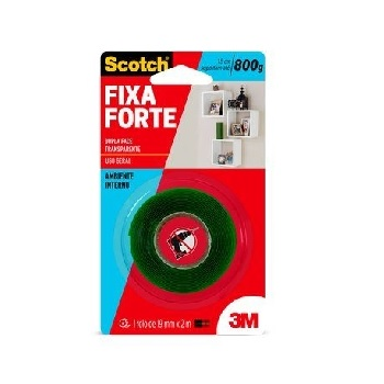Fita Dupla Face 3M Scotch 12mmx2m Fixa Forte Transparente - Ref. HB004419873 - 3M