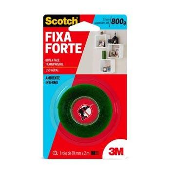 Fita Dupla Face 3M Scotch 19mmx2m Fixa Forte Transparente - Ref.HB004419881 - 3M