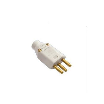 Plug Macho 2P+T 20A saída de Cabo Cinza - Ref.08317300 - FAME