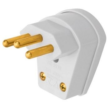 Plug Macho 2P+T 20A Saída Lateral 90 Grau - Ref. 08314820 - FAME