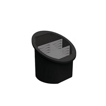 Porta Talher Separador de Plástico Preto - Ref.UZ314-PR - UZ