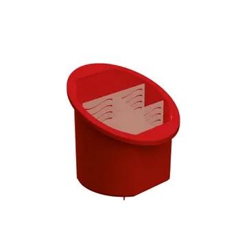 Porta Talher de Plástico Separador e Organizador Vermelho - Ref.UZ314-VM - UZ