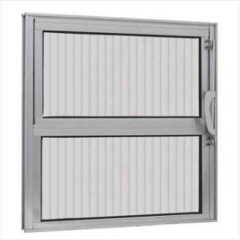 Basculante Alumínio 40x40 1 Seção Vidro Canelado - Ref.147 - ALUVID