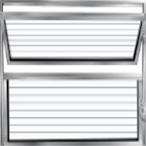 Basculante Alumínio 60x60 2 Folhas Vidro Canelado - Ref.131 - ALUVID