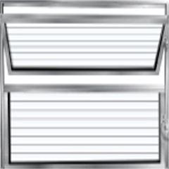 Basculante Alumínio 80x80 1 Seção Vidro Canelado - Ref.360 - ALUVID