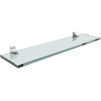 Prateleira de Vidro 10x40cm com Suporte Cromado Incolor - Ref. 08617.001 - PRAT-K