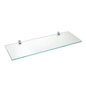 Prateleira em Vidro 10x60cm Suporte  Cromado Incolor - Ref.08617.002 - PRAT-K